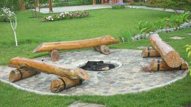 Seating Around Fire Pit Interesting Pinterest Pits