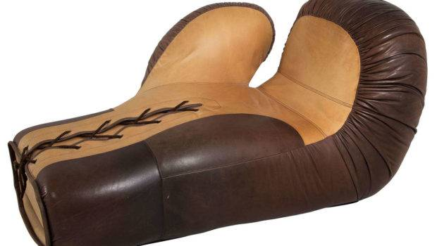 Sede Boxing Glove Two Tone Beige Brown Leather