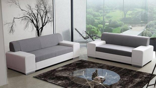 Set Sofa Modern Grey Fabric Thesofa