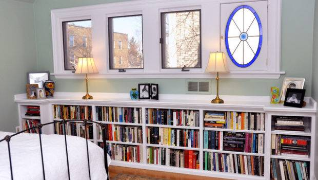 Several Concept Under Window Bookcase Your Bedroom