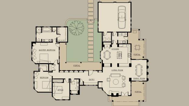 Shaped Houses Pinterest Courtyards House Plans Floor