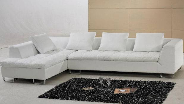 Shaped Leather Sectional Sofa Couch Pillows Tosh Furniture Ebay