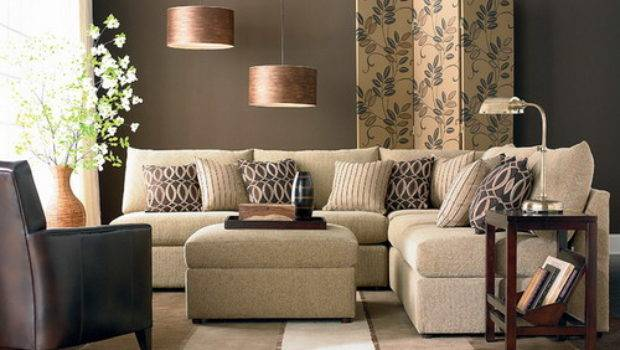 Shaped Living Room Dining Decorating Ideas
