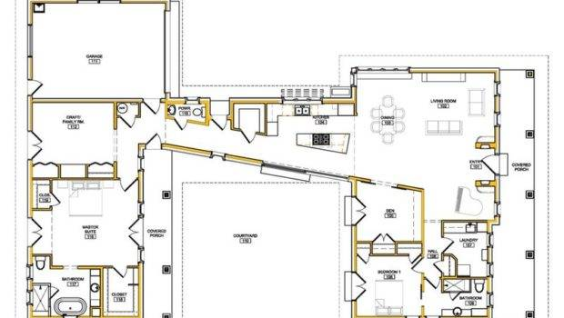 Shaped Modern House Plans Small Design