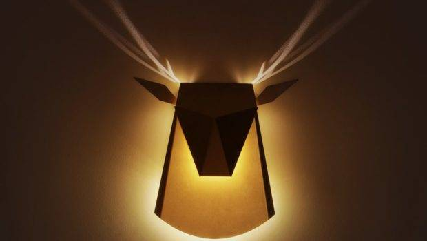 Shaped Wall Lamp Cool Antlers Light Effect Popup Lighting