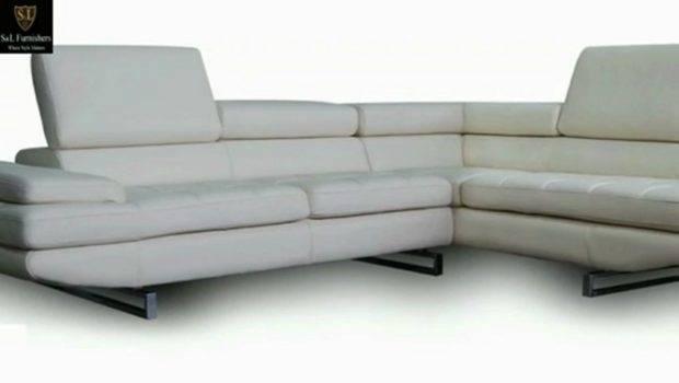Shaped White Leather Sofa Slfurniture Popscreen