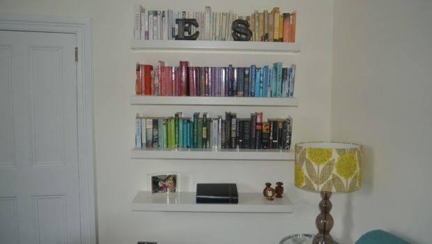 Shelf Life Selection Our Books Sit White Lack Wall Shelves