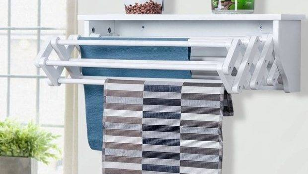 Shop Costway Wall Mounted Drying Rack Folding Clothes