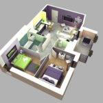 Simple Bedroom Apartment Plans Design Apartments
