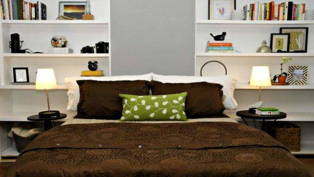 Simple Bedroom Shelves Ideas Two Sided Open