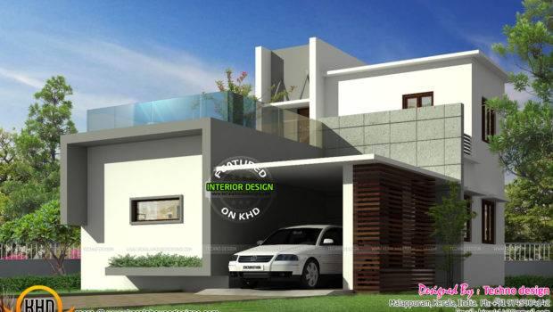 Simple Budget Contemporary Home Kerala Design