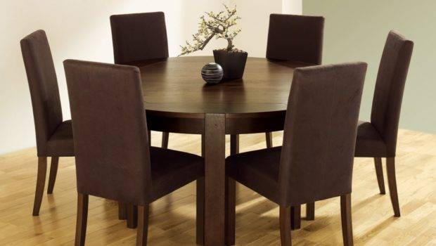 Simple Dining Room Design Round Wooden Table