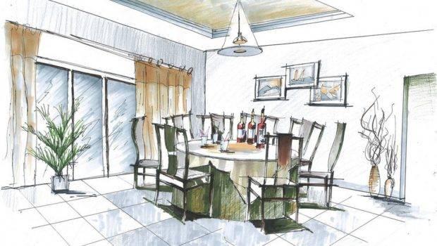 Sketch Dining Room Design Ideas House