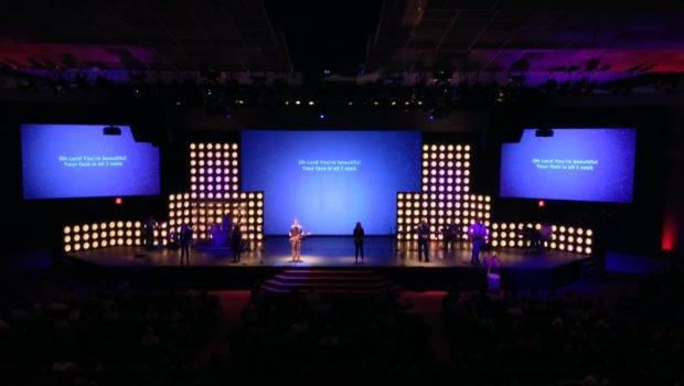 Skyscraping Dots Set Design Church Stage Ideas