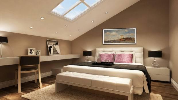 Slant Loft Bedroom Furniture Design