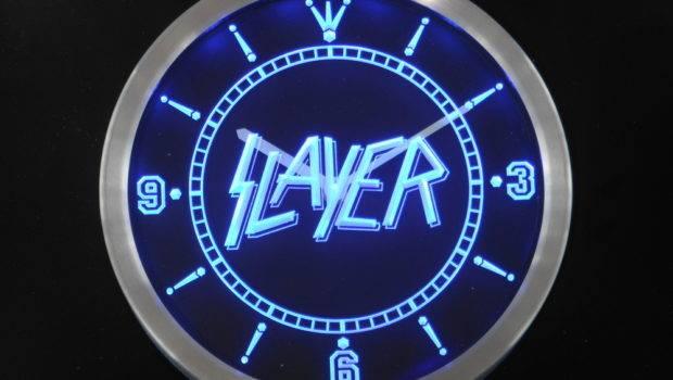 Slayer Bar Beer Neon Sign Led Wall Clock Wholesale Dropshipping