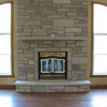 Sleek Design Stone Fireplace Made Mixing Rectangular