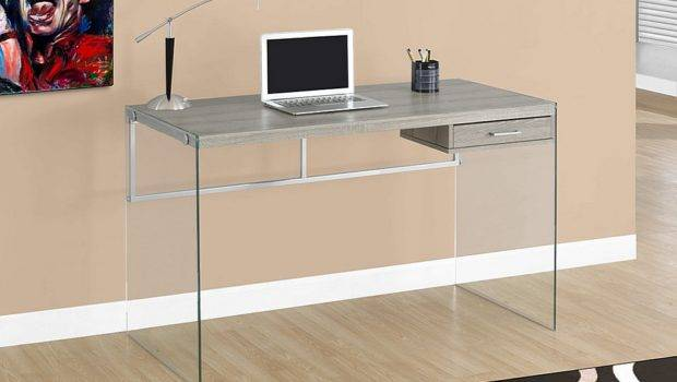 Sleek Glass Computer Desk Laptop Tempered Legs