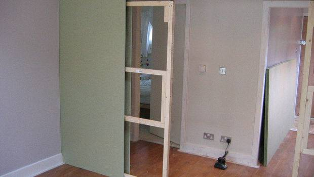 Sliding Door Frame Into Dividing Wall