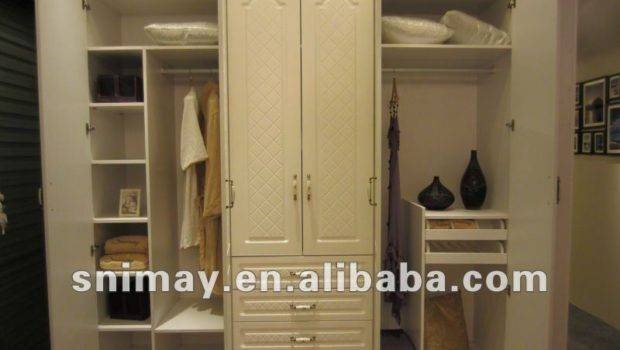 Sliding Door Wooden Almirah Designs White Color China Factory Car