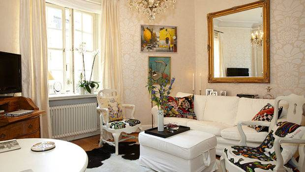 Small Apartment Lovely Alcove Sweden Home Interior Decorating