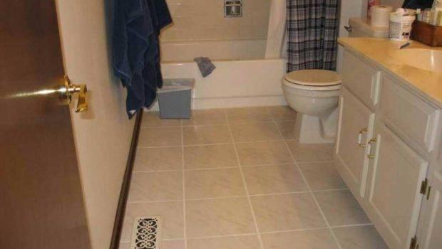 Small Bathroom Tile Floor Ideas Beige Color