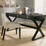 Small Home Office Design Ideas Curved Desk Pine