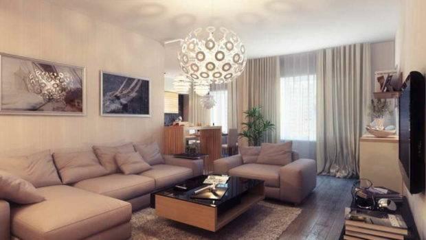 Small Living Room Natural Furniture Arrangement