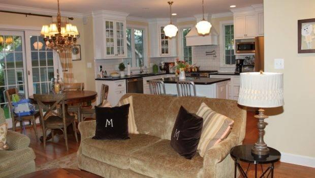 Small Open Floor Plan Furniture Layout Ideas Dark Wood