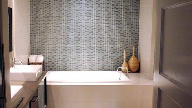 Small Space Modern Bathroom Tile Design Ideas Gray