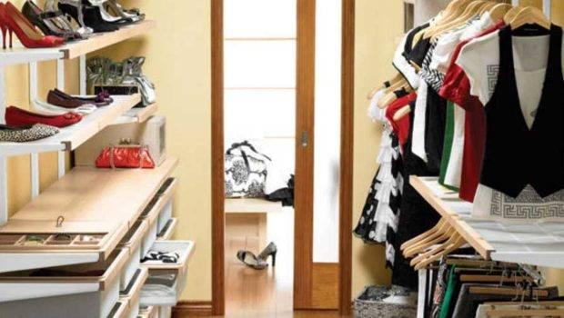 Small Walk Closet Ideas Shoe Shelving Home