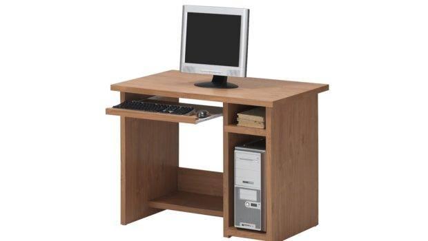 Small Wood Computer Desks Spaces Saomc