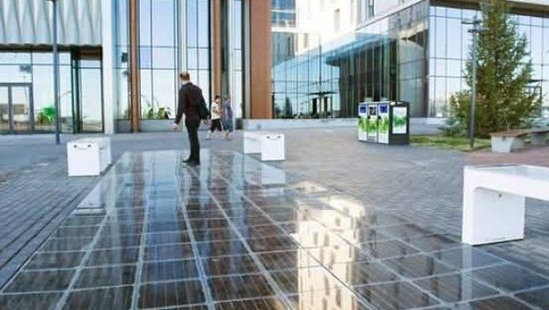 Solar Panel Walkway Made Blocks