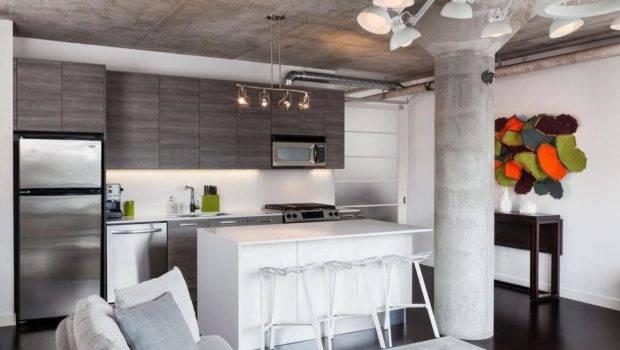 Solid Concrete Ceiling Living Room Pillar Decoration Ideas