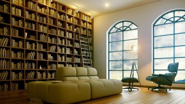 Sophisticated Modern Home Library Interior Design Ideas