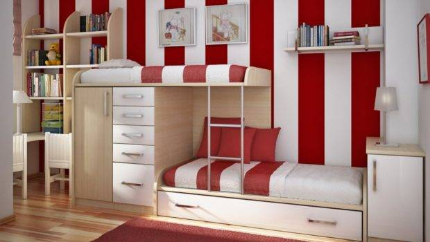 Space Saving Bunk Bed Ideas Pink Beds Kids Bedrooms