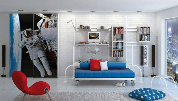 Space Theme Room Poster Print Kids Rooms