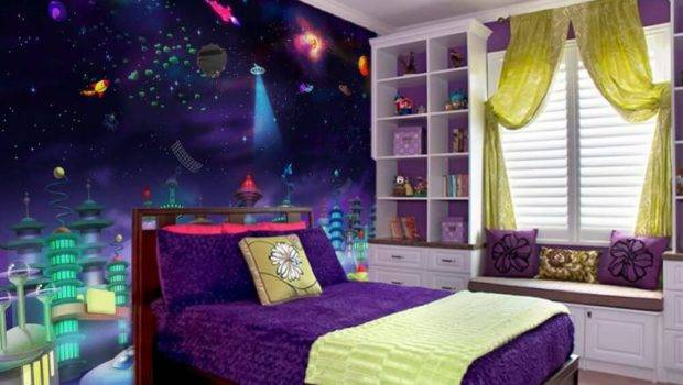 Space Themed Bedroom Ideas Kids Adults