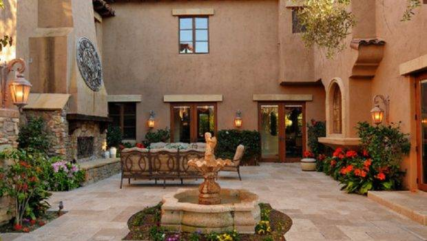 Spanish Style House Plans Central Courtyard