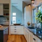 Splashy Countertop Edges Contemporary Kitchen