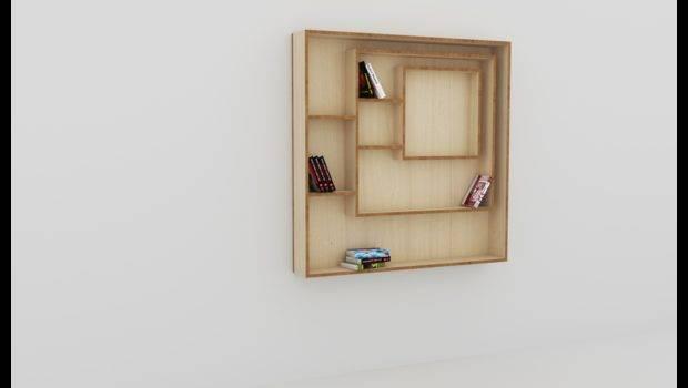 Square Bookcase Art Version Basis