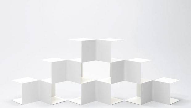 Square Bookshelves Nendo Spoon Tamago