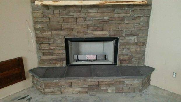 Stacked Stone Fireplace Stunning Best