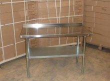 Stainless Steel Work Bench Table Kitchen Top Splash Back