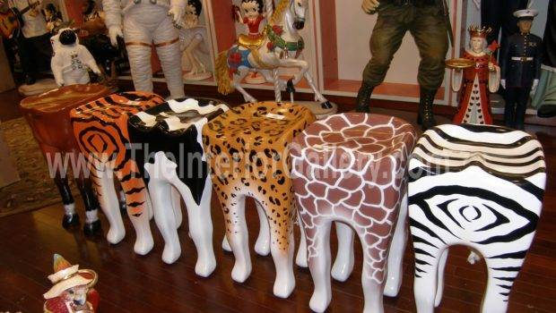 Statues Theme Decor Animal Stools
