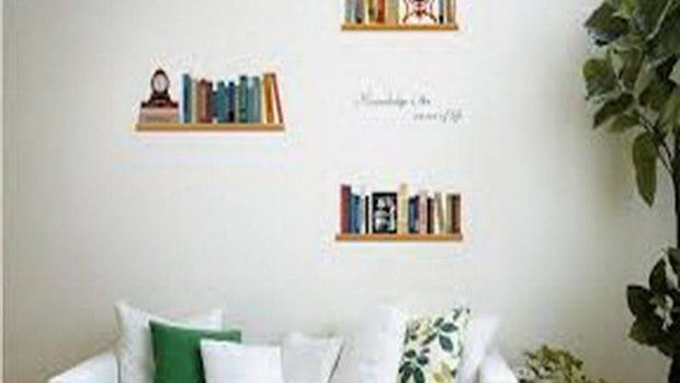 Sticker Shelves Books Wall Design Ideas Shelf