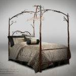 Stone County Ironworks Handcrafted Enchanted Forest Canopy Bed