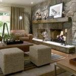 Stone Fireplace Classic Design Indoor