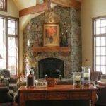 Stone Fireplace Designs Corner