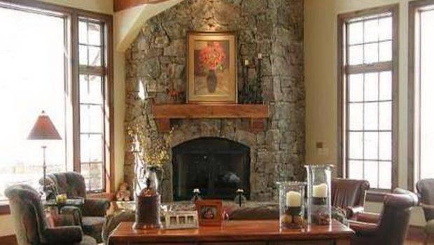 Stone Fireplace Designs Corner